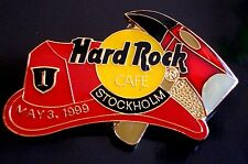 HRC Hard Rock Cafe Stockholm Fireman Hat + Axe LE500 Fire 3rd May 1999