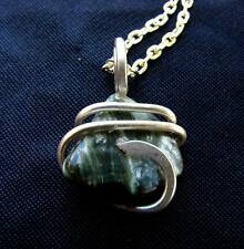Angel Seraphinite Seraphina Crystal Healer Sterling Silver Pendant Wire Wrap #6