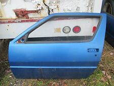 1987-1989 Chrysler Conquest TSI Starion LH Drivers Side Door Shell Blue OEM