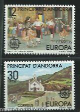 ANDORRA  Edifil # 140/141 ** MNH Set. EUROPA cept 1981