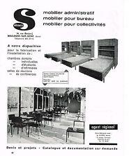 PUBLICITE ADVERTISING 1965   SIMCO   mobilier administratif bureau collectivités