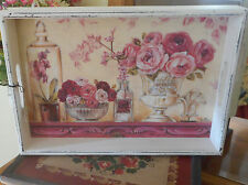 New Home Essentials French Country Multi Color Wooden Serving Tray 16 x 11 x 2