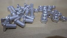 100 GREENHOUSE GLASS ALUMINIUM SQUARE HEAD NUTS AND BOLTS 11mm LENGTH COLDFRAME