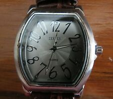 BIJOUX TERNER Silver Men's Wrist Watch -  Leather Brown Band - Model: K-10901