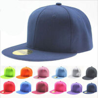 Plain Snapback Hats Flat Peak Baseball Caps Blank Colors Hip Hop Vintage Unisex