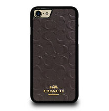 Coach Signature Brown iPhone 5/5S 5C 6/6S 7/7S Plus SE Case Phone Cover