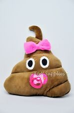 Pink Baby Princess Poop Emoji Pillow Emoticon Cushion Stuffed Plush Toy Doll