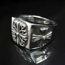 Japan Cross Silver Gothic Rock Biker Silver Ring for Harley Davidson Motor TR108