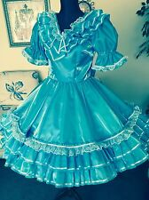 Square Dance / Western  Dress/ 1 Pc/turquoise/White