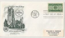 COVER UNITED STATES EAST LANSING TO CALIFORNIA USA ETATS UNIS. L698