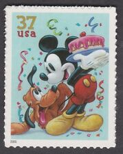 MICKEY MOUSE and PLUTO Art of DISNEY CELEBRATION 37c USPS POSTAGE STAMP 2005 MNH