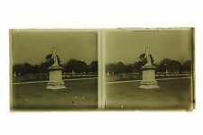 Vie quotidienne à Paris France vers 1930 Plaque stereo Photo amateur