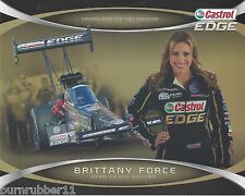 "2014 BRITTANY FORCE ""CASTROL EDGE"" TOP FUEL NHRA HANDOUT / POSTCARD"