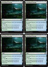 4x WOODLAND STREAM Shadows over Innistrad MTG Land Unc