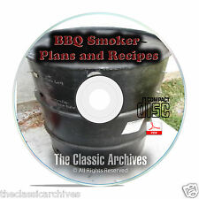 How To Build A Meat Smoker Smokehouse Plans, Smoking Meat Food Recipes on CD B72