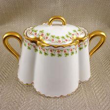Sugar Bowl Sucrier Antique Haviland Limoges Clover Leaf Schleiger 98 Lidded Pot