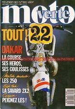 MOTO VERTE 190 MAÏCO 250 SUZUKI RMX HRD ATM HUSQVARNA WR KTM GS PARIS DAKAR 1990