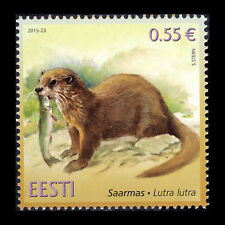 "Estonia 2015 - Estonian Fauna ""European Otter"" Wild Animals - MNH"