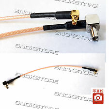 CABLE ADAPTER PLUG TS9 TO MMCX CAVETTO ADATTATORE CONNECTOR 15cm RG316 ANTENNA