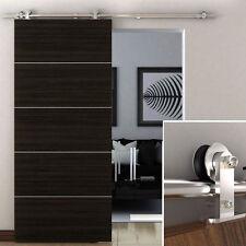 6.6 FT Modern Sliding Door Hardware Kit Stainless Steel Wood Barn Door Track XS