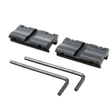 """2ps Picatinny/W 3/8"""" 11mm Dovetail to 7/8"""" 20mm Weaver Picat Rail Adapter Mounts"""