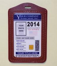 "Custom Company ID Badge ""2016""  CUSTOM W/ YOUR PHOTO & INFO  Work - Employee ID"