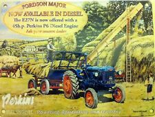 Fordson's Tractor, Perkins Diesel Engine, Vintage, Large Metal/Tin Sign, Picture