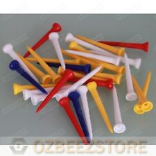 50 X All Plastic 54mm golf tees medium for driver assorted mixed colors BEEZ tee