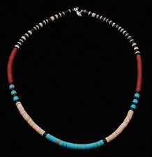 Native American Handmade Multi-Stone Bead Necklace Santo Domingo Pueblo