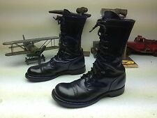 MADE IN USA BLACK LEATHER DISTRESSED CORCORAN MILITARY PARATROOPER BOOTS 9.5 M