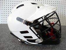 Cascade CPV-R Lacrosse M Helmet Adjustable White with chin strap NOCSAE EUC