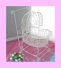 Baby Carriage for Baby Shower or Christening Decorations - White