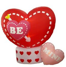 Valentine's Day Inflatable Animated Hearts Be Mine Outdoor Yard Lawn Decoration