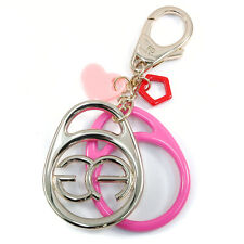 Women's Fashion Key Chain Charm Accessory with Gold Logo Design & Heart Accents
