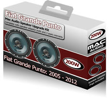 Fiat Grande Punto Front Door speakers Mac Audio car speaker kit 200W + adapters