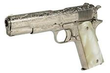 """Billy Zane """"Cal Hockley"""" engraved nickel-plated blank fire Colt .45 ... Lot 1378"""