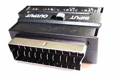 RGB SCART to 3 RCA or SVHS AUDIO VIDEO CONVERTER BLOCK PLUG UK