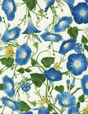 Morning Glory Humming / Blue Bird Cotton Quilt fabric Timeless Treasures