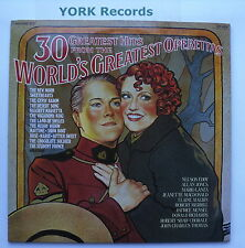 30 GREATEST HITS FROM THE WORLD'S GREATEST OPERETTAS - Ex Con Double LP Record