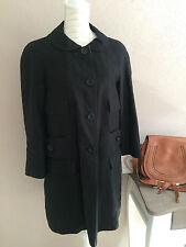 SEE by CHLOÉ wunderschöner Mantel Leinen Jacke Bubikragen schwarz weiß 38 M TOP