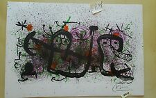 "Joan MIRO Vintage Color Lithograph on Artists Vellup Paper 21 5/8"" x 14 3/4"" HS"
