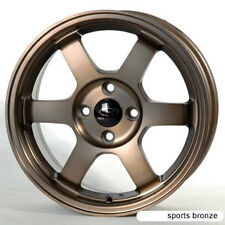 SPORT BRONZE 16X7 +40 ROTA GRID 4X100 WHEEL FIT INTEGRA YARIS MIATA INTEGRA JDM