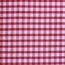 "Red White 1/8"" Check Gingham Fabric *Per Metre* SML"