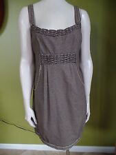 NANETTE LEPORE Brown Houndstooth Sheath Dress 6