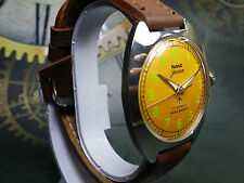 VINTAGE HMT JAWAN 17JEWELS HAND-WINDING MOVEMENT MEN'S ANALOG DIAL WRIST WATCH