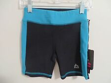NWT Girls RBX Poly/Spandex Blend Black/Turquoise Athletic/Dance Shorts Size 7/8