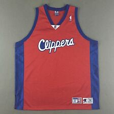 Vtg Authentic Champion LA Los Angeles Clippers Basketball Jersey Blank 56 3XL