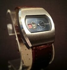 RARE VINTAGE SEARS 1970'S DIRECT READ DIGITAL JUMP HOUR WATCH - SERVICED!