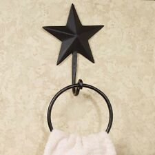 Primitive *Black Barn Star*Towel Ring Holder*The Country House Collection *