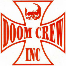 BLACK LABEL SOCIETY DOOM CREW INC CROSS PEEL AND RUB ON RED VINYL DECAL !